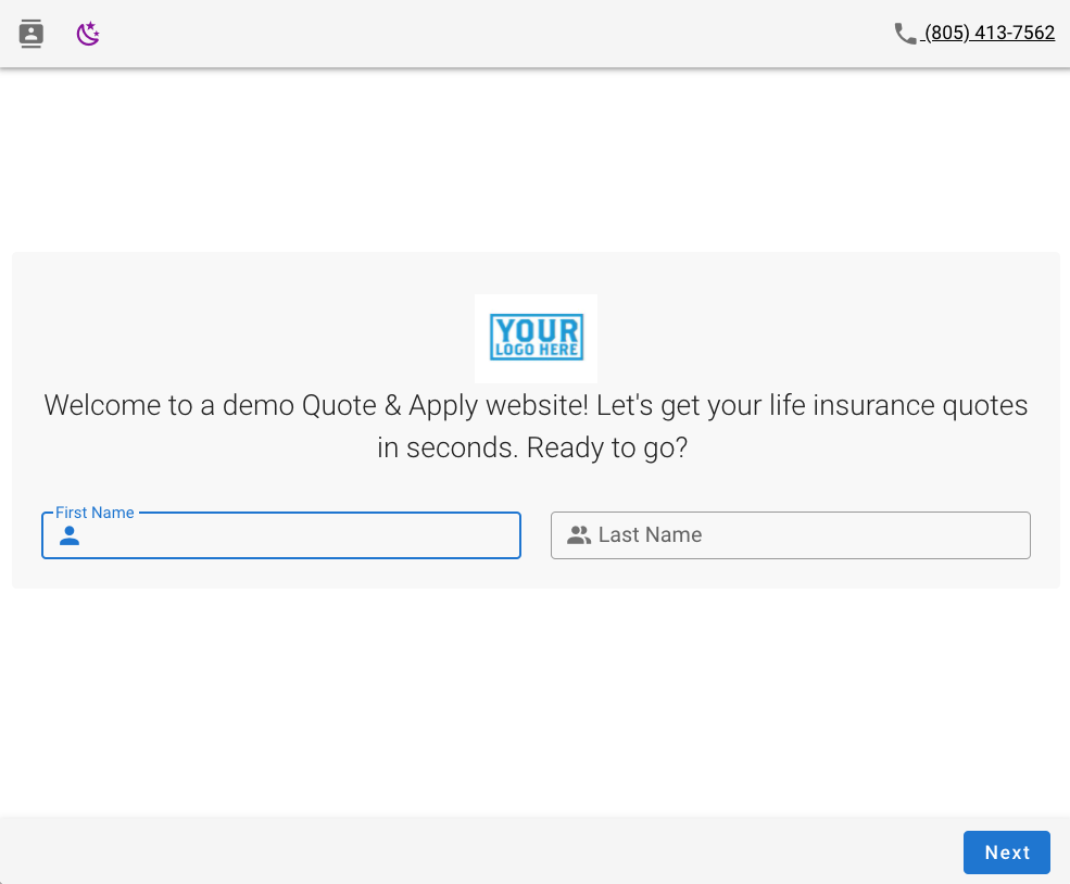 Apply Start Page